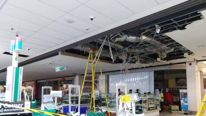 All safe from Tesco Lotus ceiling collapse
