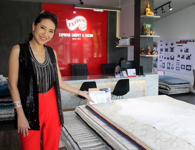 The range of customers walking in has been nearly as wide and varied as the range of floor coverings on offer, with families taking centre stage, says Business Development Director Rawewan 'Moo' Kowsurat.