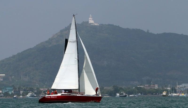 Close racing marked Day One of the Phuket Yacht Club's 'Sailor's Regatta'. Photo: Courtesy of the Phuket Yacht Club