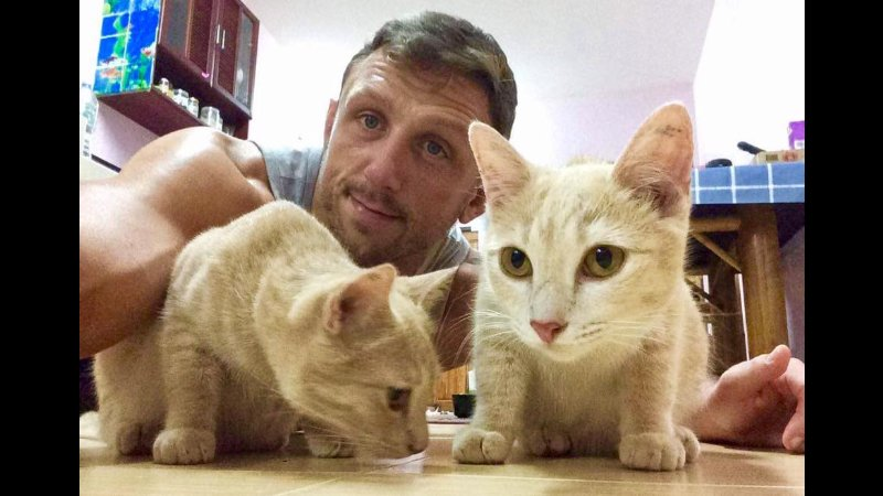 Tiger Muay Thai's Stuart has given Reece and Asia a 'furever' home.