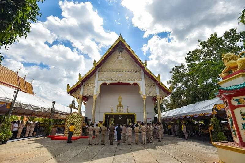 The full dress rehearsal for the sacred water-drawing ceremony to be held this Saturday (Apr 6) was held at Wat Chalong yesterday (Apr 3). Photo: PR Dept