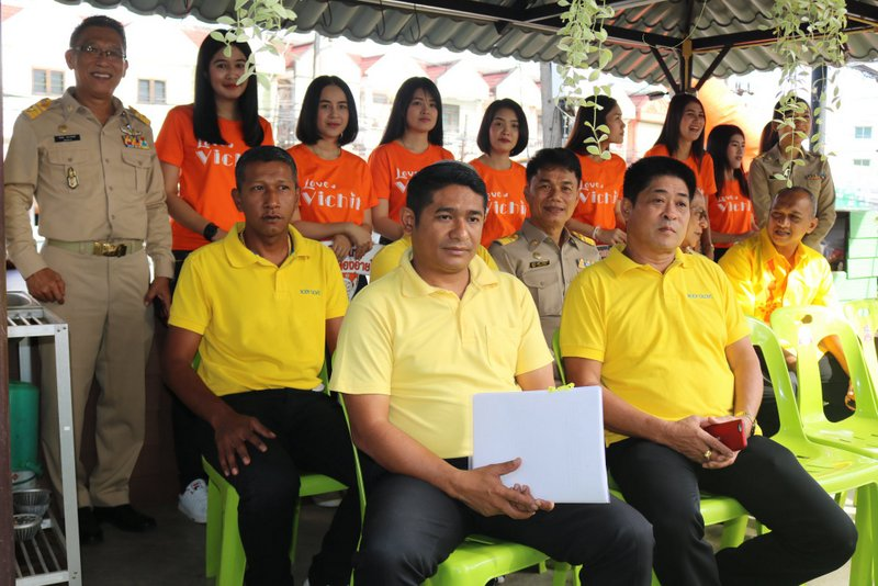 Wichit Municipality launched its road-safety campaign yesterday (Apr 10). Photo: Wichit Municipality