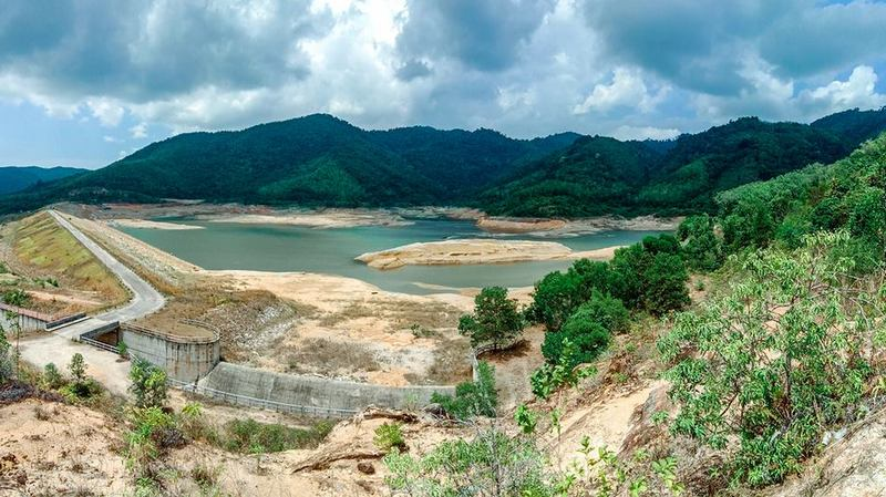 Bang Neow Dum reservoir in Srisoonthorn, pictured today (Apr 18). Photo: Courtesy of Charlie Hallett