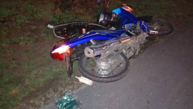 Security guard dead after motorbike collides with minivan