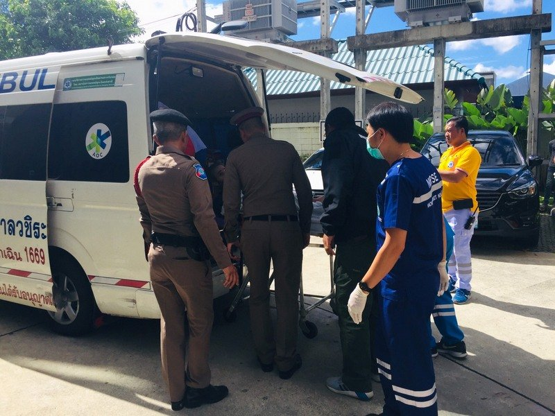 Australian-born Brit David Maclean was taken to Vachira Phuket Hospital. Photo: Ekkapop Thongtub