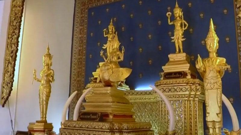 His Majesty King Maha Vajiralongkorn Bodindradebayavarangkun and Queen Suthida pay home during a series of ceremonies yesterday (May 2). Screengrab: The Royal Family Of Thailand / YouTube