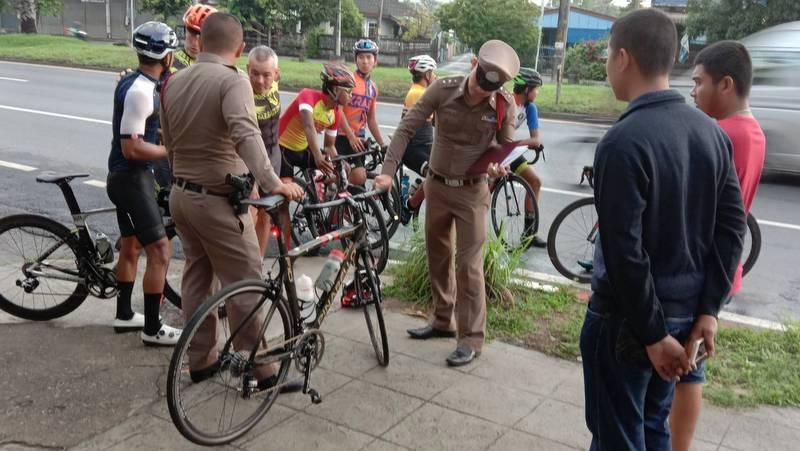 Police urge safety after Italian cyclist hit by car