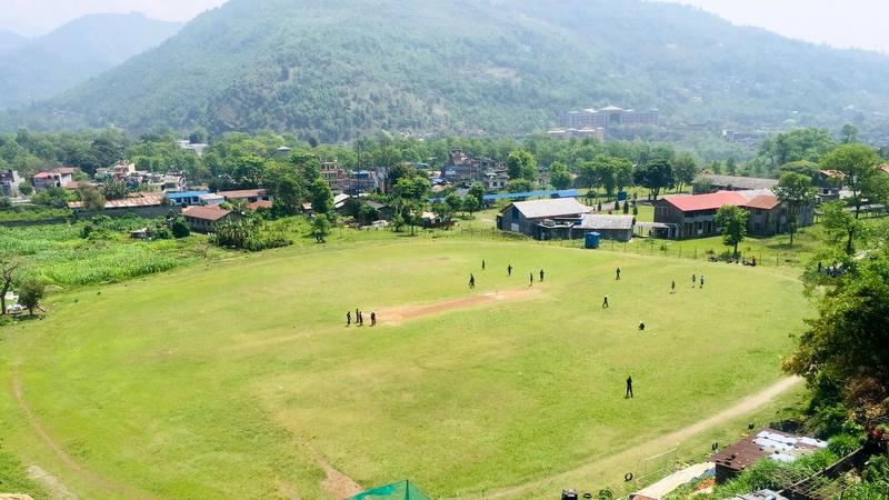 "The ""Cricket on Top of the World"" tournament will be played in the tourist city of Pokhara from Friday, September 20 to Sunday, September 22, 2019, and will mark the first international club cricket tournament in Nepal. Photo: Prashanna Shakya"