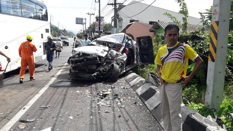 Four people died in the high-impact collision. Photo: Courtesy of Wat Khao Chareutham Rescue Foundation