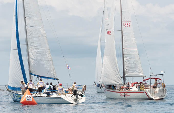 2-Close racing in IRC Cruising. Photo: Supplied