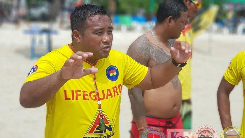 Patong lifeguards conducted extensive training last Thursday in preparation for the rescues that will need to be carried out during the southwest monsoon months of May through October. Photo: Patong Surf Life Saving