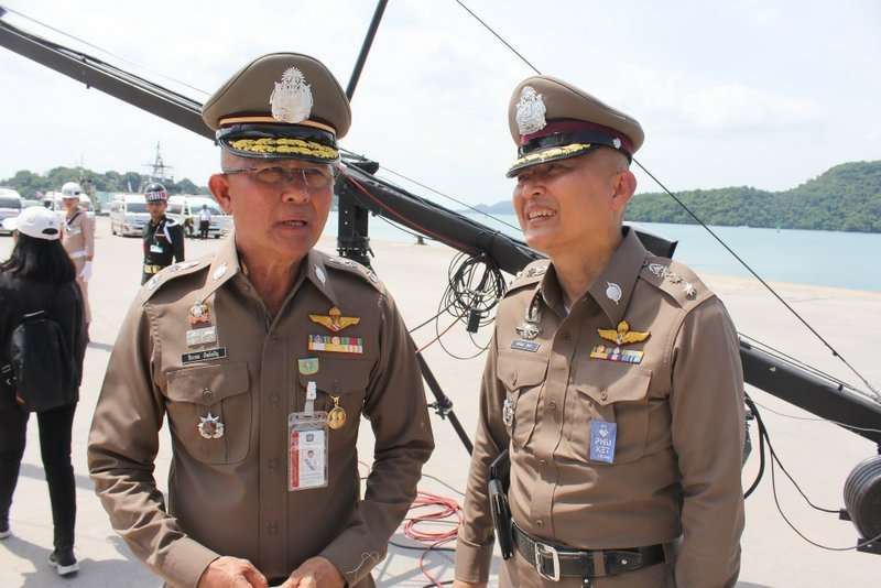 Prime Minister Prayut Chan-o-cha presided over a full-scale tsunami disaster-response exercise at the Deep Sea Port at Ao Makham, on Phuket's east coast, as part of his formal visit to Phuket yesterday (July 8). Photo: PR Dept