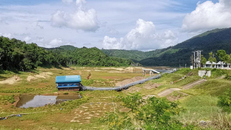 Bang Wad reservoir today contains only half the amount of water it did on April 30, at the height of water crisis earlier this year. Photo: Supplied