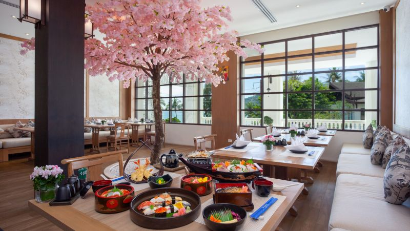 Dining under the blossoms at Diamond Cliff's Kiko restaurant