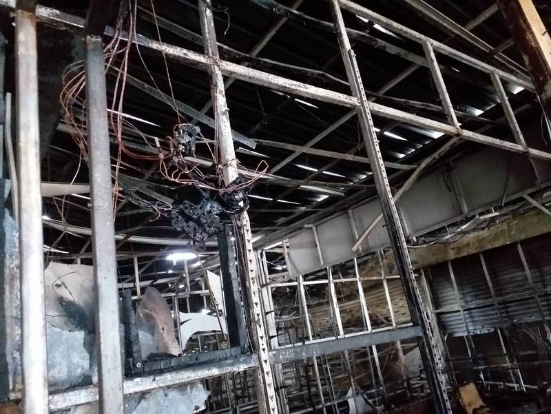 The fire destroyed 12 stores and caused more than B1 million in damage. Photo: Patong Municipality Fire Department
