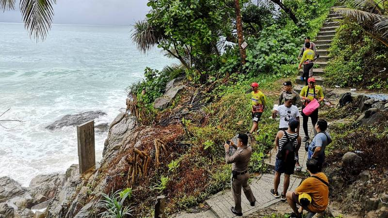 The search for the two missing Filipino tourists continues today (July 19). Photo: Karon Police