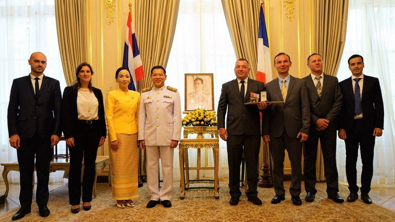 Maksym Polejaka was honoured with the royal award at the Royal Thai Embassy in Paris on Monday (Sept 9). Photo: Royal Thai Embassy - Paris, France