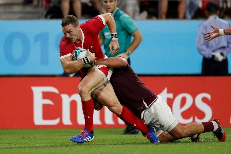 Wing George North scored Wales' final try. Photo: AFP