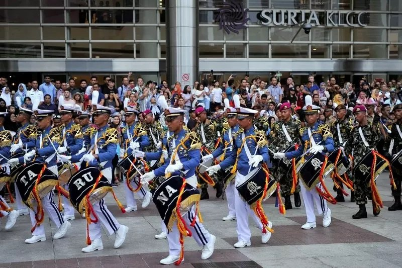 The cadets, as part of Indonesian Navy tradition are renowned for their marching band, and will perform at Queen Sirikit Park in Phuket Town. Photo: Bernama