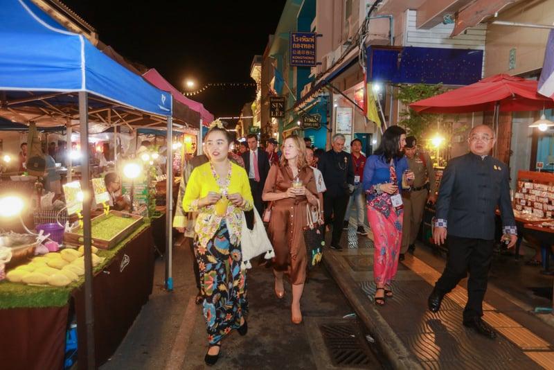 The delegation toured Phuket Old Town last night. Photo: US State Dept