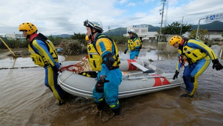 Japanese Prime Minister Shinzo Abe said rescue units 'are trying their best' to reach those still unaccounted for after Typhoon Hagibis. Photo: AFP