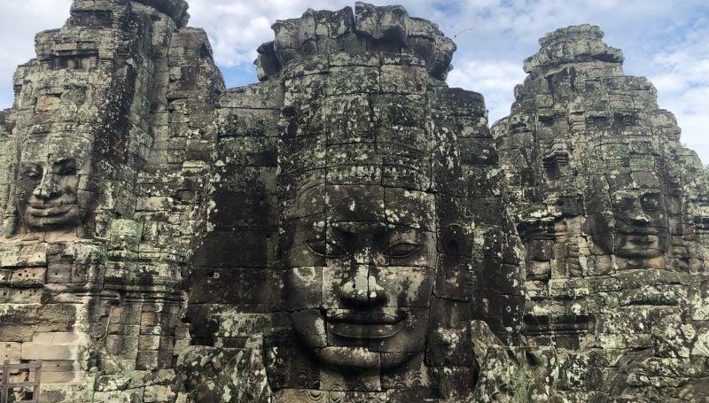 Hundreds of serene faces adorn Angkor Thom. Photo: Gulnara Salieva