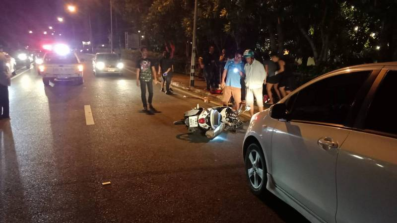 The scene of the accident on Saturday night (Nov 9). Photo: Khao Lak Police