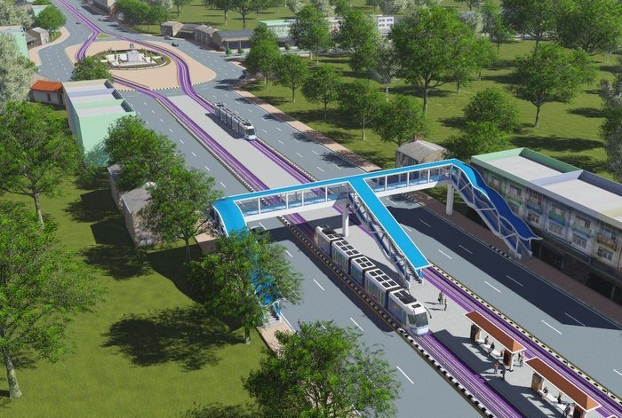 Bids to start building Phase 1 of Phuket's light-rail system are expected to open mid-2020, says MRTA Governor Pakapong Sirikantaramas. Image: OTP