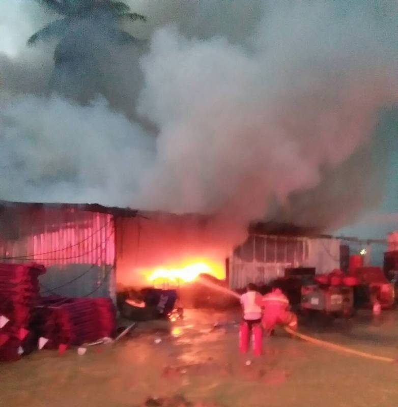 Firefighters took about one hour to extinguish the blaze. Photo: Kathu Police