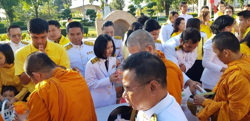 The event included the giving of alms to 89 monks. Photo: PR Dept