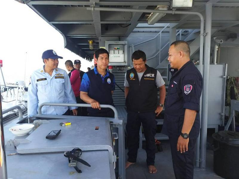 The search for 18-year-old missing tour boat crewman Kittipong 'Boy' Samunboot continues. Photo: DMCR