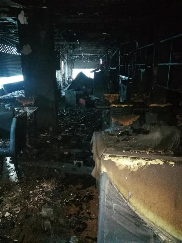 The popular Two Chefs Patong restaurant, located on Rat-U-Thit 200 Pi Rd, was destroyed by fire early this morning (Dec 30). Photo: Two Chefs)