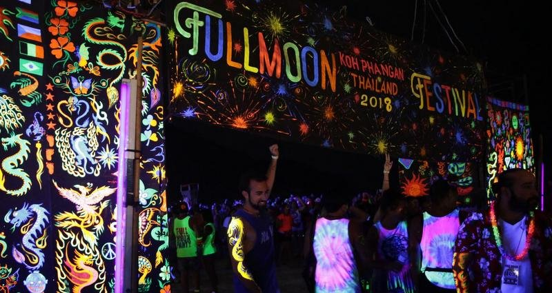 The world-famous full-moon party in Surat Thani's Koh Phangan island has fallen victim to the COVID-19 coronavirus. Photo: Bangkok Post