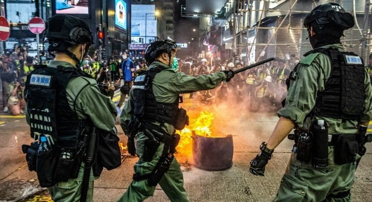 The latest unrest in Hong Kong comes days after China announced plans to impose a sweeping national security law on the city following last year's huge and often violent pro-democracy rallies. Photo: AFP
