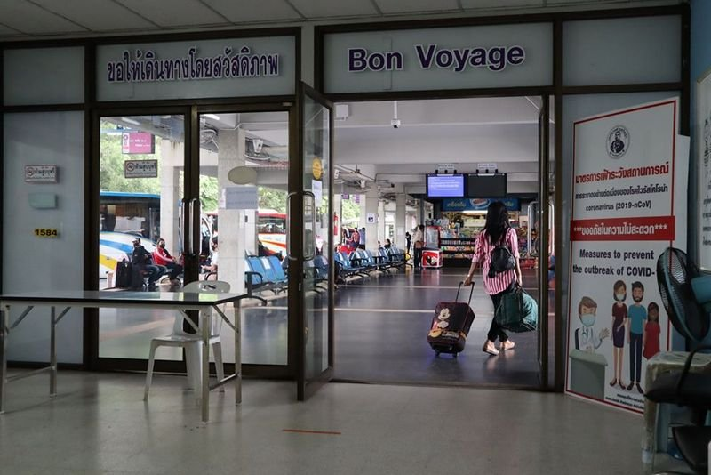 Passengers are now back at Phuket Bus Terminal 2 since interprovincial buses resumed services into and out of Phuket last Friday (June 5). Photo: PR Phuket