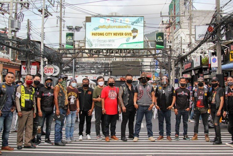 The Patong 'Bike Night' event was announced on Bangla Rd late yesterday (Aug 11). Photo: Patong Municipality