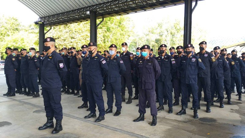 A total of 166 police officers from across Phuket have been selected to undergo the training. Photo: Eakkapop Thongtub