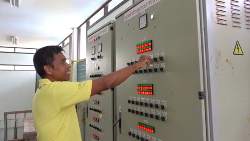 The outage will allow workers to conduct maintenance at the water-production facility on Damrong Rd. Photo: Phuket City Municipality Waterworks Division
