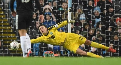Burnley goalkeeper Nick Pope just missed out on the Golden Glove award last season and will be looking to go one better this time around. Photo: AFP