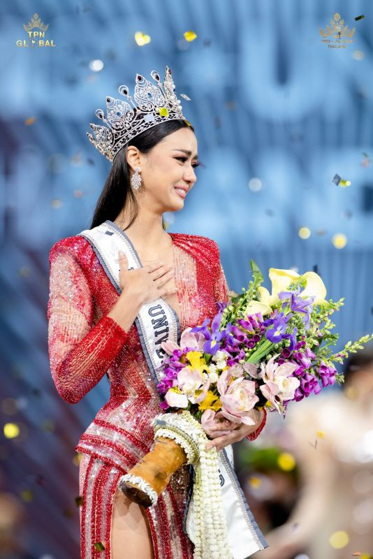 Amanda Obdam, a 27-year-old Thai-Canadian model from Phuket, has been crowned Miss Universe Thailand 2020. Photo: Miss Universe Thailand