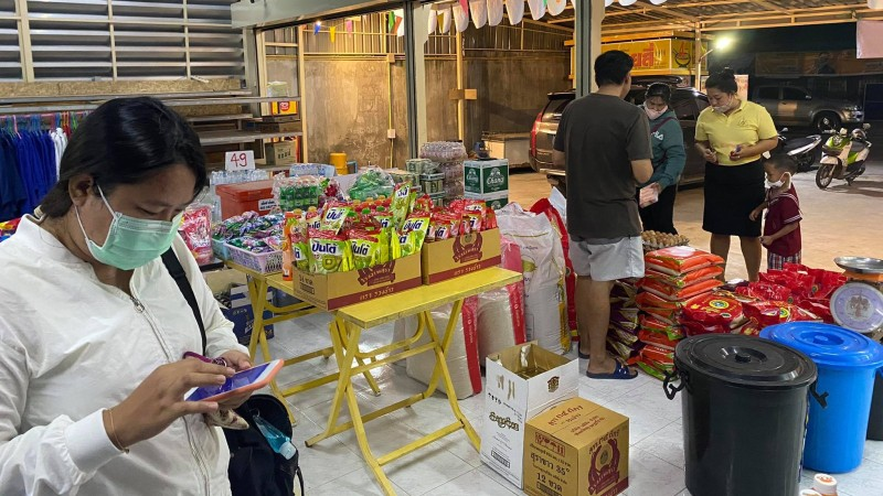 The Kalui Shop grocery store in Baan Don, Cherng Talay, is reporting a huge boost sales in daily necessities due to the campaign. Photo: Kalui Shop