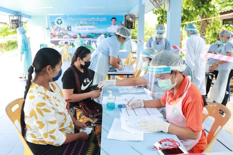 A random selection of hundreds of Myanmar workers across the island have been called in for random swab tests for COVId-19. Photo: PPHO
