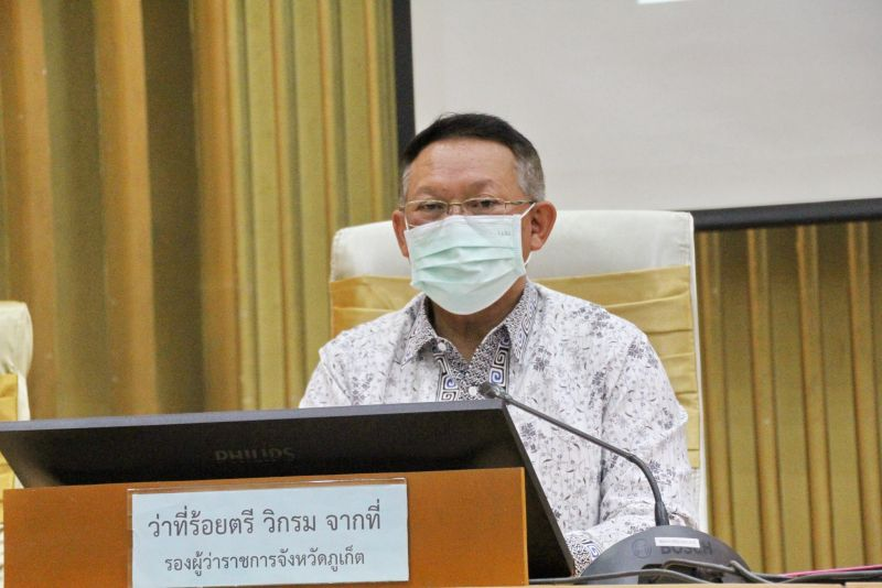 Vice Governor Vikrom Jakthee at the meeting at Provincial Hall yesterday (Jan 8). Photo: PR Phuket