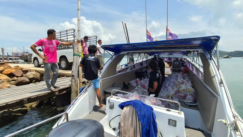 The 5 Star Marine boats help the volunteers provide much-needed assistance to the most at-risk communities living on the islands off Phuket.