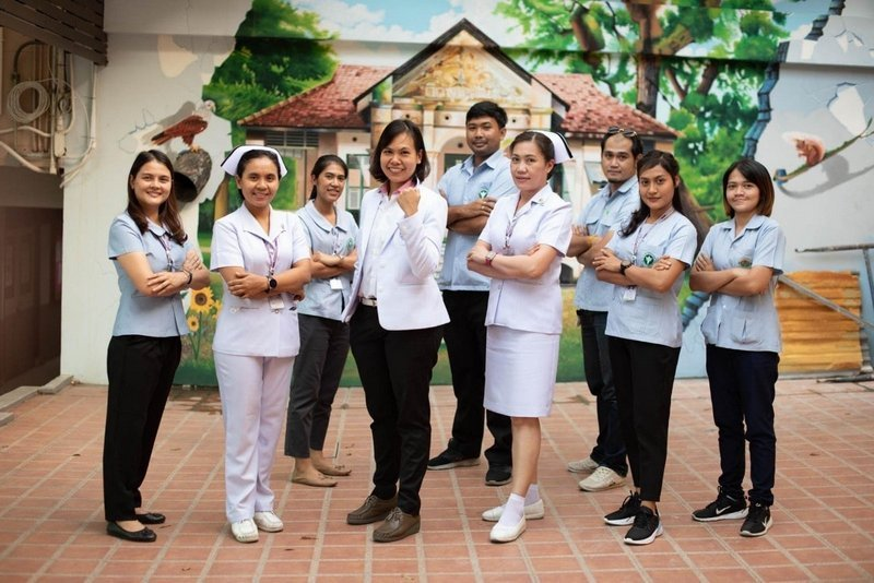 The first medical team returned to Phuket on Feb 8, and a second team of volunteers are set to leave the island on Feb 28. Photo: Vachira Phuket Hospital