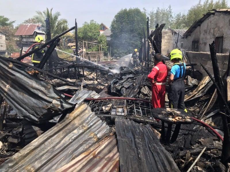 The house was destroyed within minutes. Photo: Eakkapop Thongtub