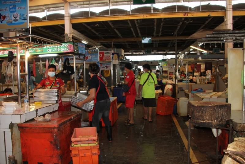 Vendors at the market were told to pack up their stalls for seven days. Photo: PR Phuket