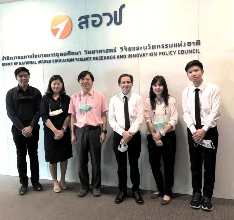 A meeting was held between the executives of the NXPO and the executives of the Thai-SSDC which explored the possibility of a mutual collaboration between both parties.