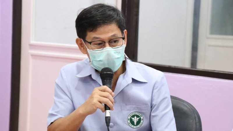 Dr Kusak Kukiattikoon, Chief of the Phuket Provincial Public Health Office (PPHO) speaking during the live broadcast this morning (June 30). Photo: PPHO