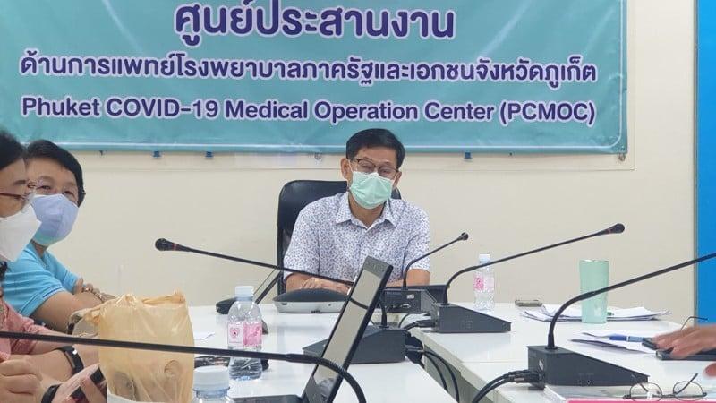PPHO Chief Dr Kusak Kukiattikoon at the meeting yesterday (July 25). Photo: PPHO